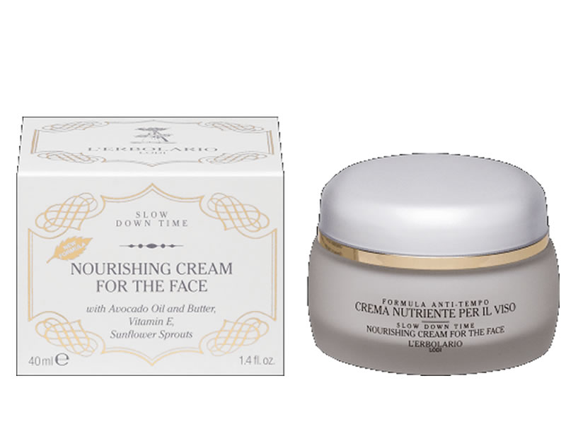 nourishing cream slow down time erbolario