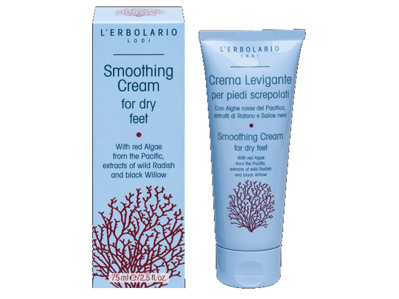 smoothing cream feet erbolario lodi
