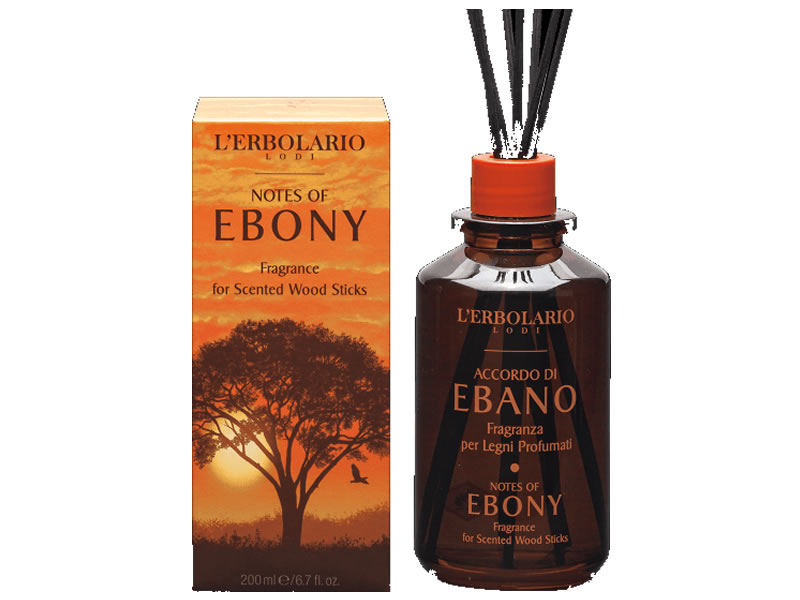 erbolario ebano wood perfumed sticks