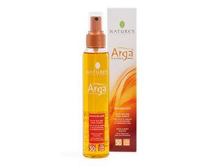 face body sun oil with argan spf 6