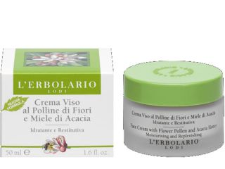 flower pollen acacia honey face cream erbolario